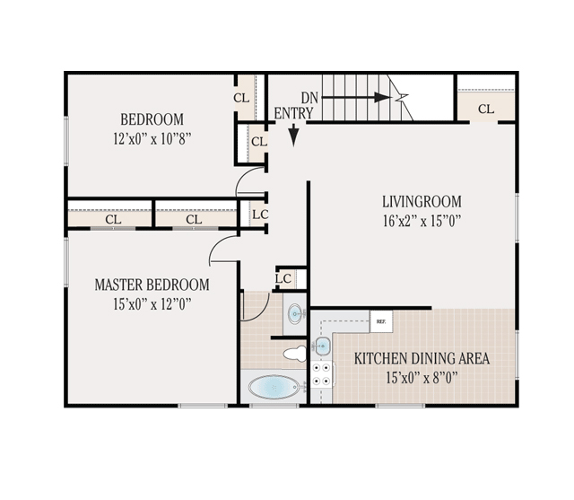 Floor plans whitehall apartments for rent in lumberton for Floor plans 750 square feet